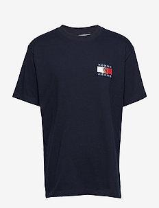 TJM CREST FLAG TEE M13 - kortermede t-skjorter - dark sapphire