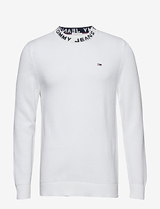 TJM NECK LOGO SWEATE - CLASSIC WHITE