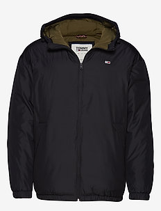 TJM ESSENTIAL HOODED - TOMMY BLACK