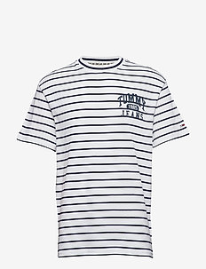 TJM GRAPHIC STRIPE T - CLASSIC WHITE / MULTI