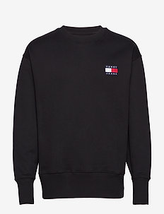 TJM TOMMY BADGE CREW - basic-sweatshirts - black