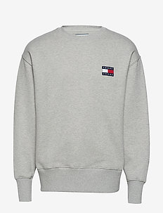 TJM TOMMY BADGE CREW - basic sweatshirts - lt grey htr