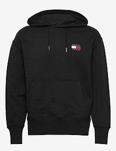 TJM TOMMY BADGE HOODIE - hoodies - black
