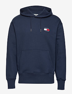 TJM TOMMY BADGE HOOD - BLACK IRIS