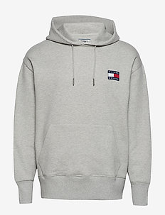 TJM TOMMY BADGE HOOD - LIGHT GREY HTR