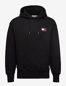 TJM TOMMY BADGE HOOD - TOMMY BLACK