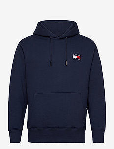 TJM TOMMY BADGE HOODIE - kapuzenpullover - twilight navy