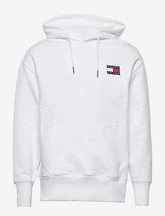 TJM TOMMY BADGE HOODIE - hoodies - white