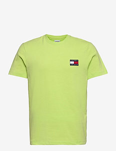 TJM TOMMY BADGE TEE - basic t-shirts - faded lime
