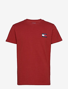 TJM TOMMY BADGE TEE - short-sleeved t-shirts - wine red