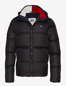 TJM ESSENTIAL DOWN JACKET - TOMMY BLACK