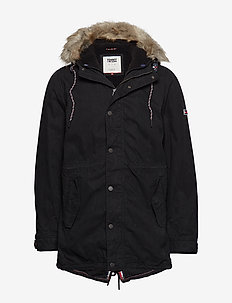 TJM COTTON LINED PARKA - TOMMY BLACK