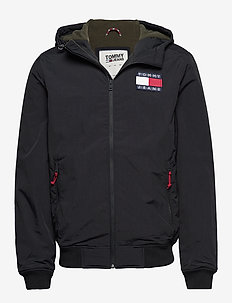 TJM PADDED NYLON JACKET - TOMMY BLACK