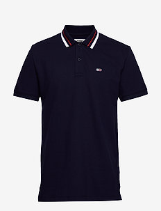 TJM CLASSICS TIPPED STRETCH POLO - BLACK IRIS