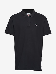 TJM CLASSICS SOLID STRETCH POLO - TOMMY BLACK