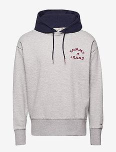 TJM CONTRAST HOOD HOODIE - basic sweatshirts - lt grey htr