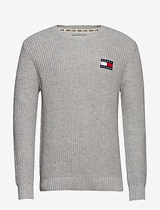 TJM TOMMY BADGE SWEATER - tricots basiques - lt grey htr