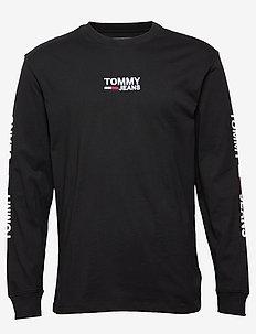 TJM CORP LONGSLEEVE - logo t-shirts - tommy black