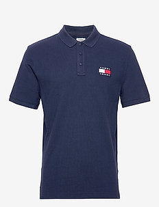 TJM TOMMY BADGE POLO - BLACK IRIS