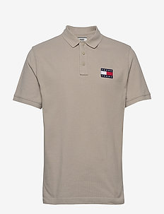 TJM TOMMY BADGE POLO - short-sleeved polos - stone