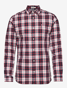 TJM POPLIN MULTI CHECK SHIRT - ternede skjorter - classic white/multi