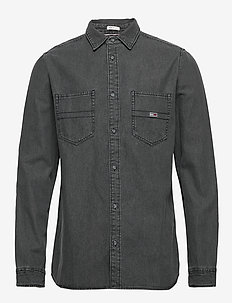 TJM DENIM SHIRT - peruspaitoja - denim black