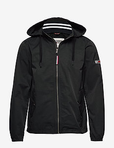 TJM ESSENTIAL HOODED JACKET - light jackets - tommy black