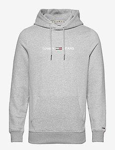 TJM STRAIGHT SMALL L - hoodies - lt grey htr