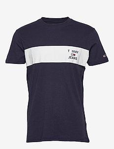 TJM CHEST STRIPE LOG - basic t-shirts - twilight navy