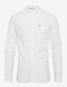 TJM MAO COLLAR OXFORD SHIRT - koszule casual - white