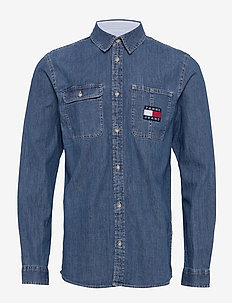 TJM DENIM BADGE SHIRT - MID INDIGO