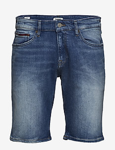 SCANTON SLIM SHORT C - denim shorts - court mid bl str
