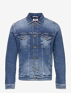 REGULAR TRUCKER JCKT BRMBCF - denim jackets - barton mid blue comfort