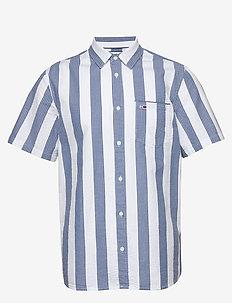 TJM SEERSUCKER STRIPE SHIRT - short-sleeved shirts - audacious blue / multi