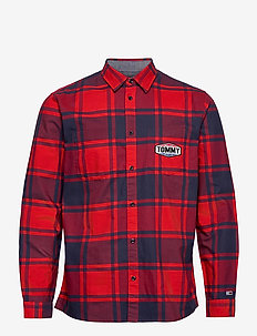 TJM OXFORD CHECK SHIRT - casual shirts - deep crimson / multi