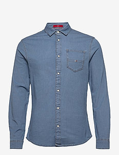 TJM STRETCH DENIM SHIRT - casual - aqua blue indigo