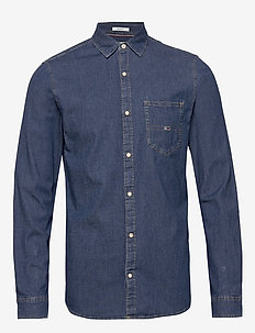 TJM STRETCH DENIM SHIRT - casual-paidat - denim medium