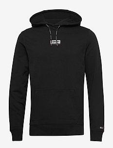 TJM ESSENTIAL GRAPHIC HOODIE - bluzy z kapturem - black