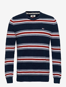 TJM LIGHT STRIPED SWEATER - pulls col rond - twilight navy / multi