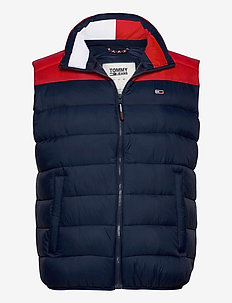 TJM COLORBLOCK  VEST - vesten - twilight navy / deep crimson