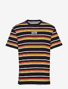 TJM YARN DYE STRIPE TEE - kortærmede t-shirts - black / multi