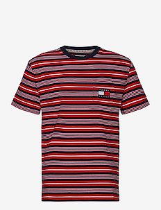 TJM STRIPE POCKET TEE - short-sleeved t-shirts - twilight navy stripe
