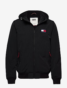 TJM PADDED NYLON JACKET - kapuzenpullover - black