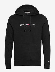 TJM STRAIGHT LOGO HOODIE - hoodies - black