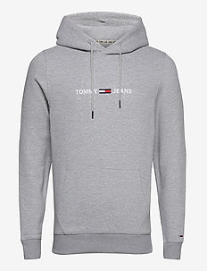 TJM STRAIGHT LOGO HOODIE - hættetrøjer - lt grey heather