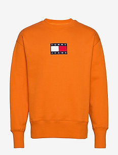 TJM SMALL FLAG CREW - sweatshirts - bonfire orange