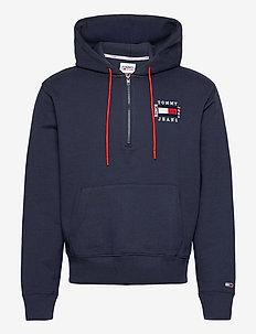 TJM HALF ZIP HOODIE - hoodies - twilight navy