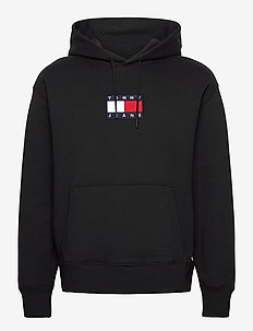 TJM SMALL FLAG HOODIE - hoodies - black