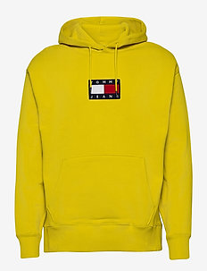 TJM SMALL FLAG HOODIE - hoodies - valley yellow