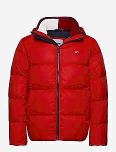 TJM ESSENTIAL DOWN JACKET - forede jakker - deep crimson